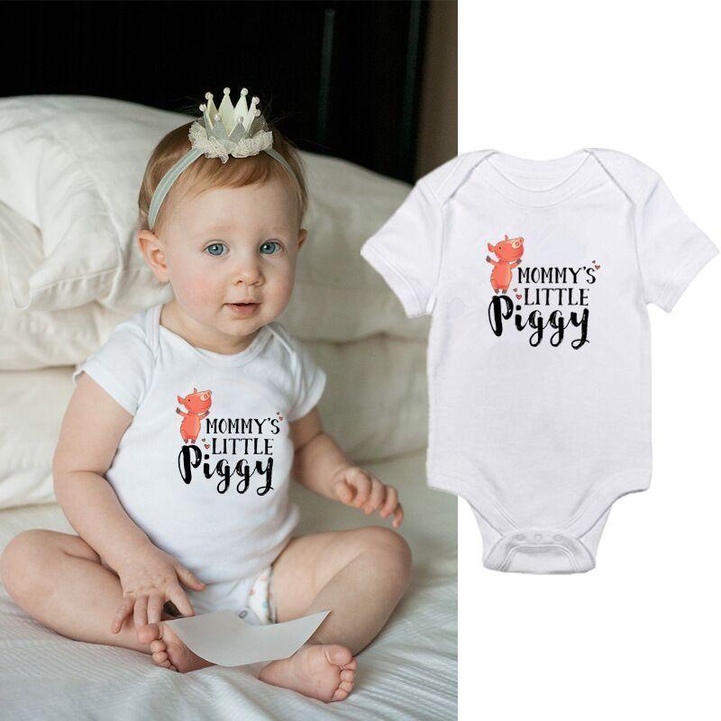 Cute Baby infant Rompers Onesie Bodysuit Newborn Letter print cotton Baby boy Girl clothes 2019 Summer Cheap Wholesale