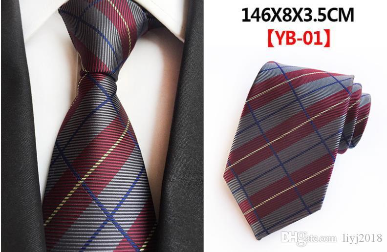 고밀도 영국 격자 무늬 셔츠 넥타이 남성 정장