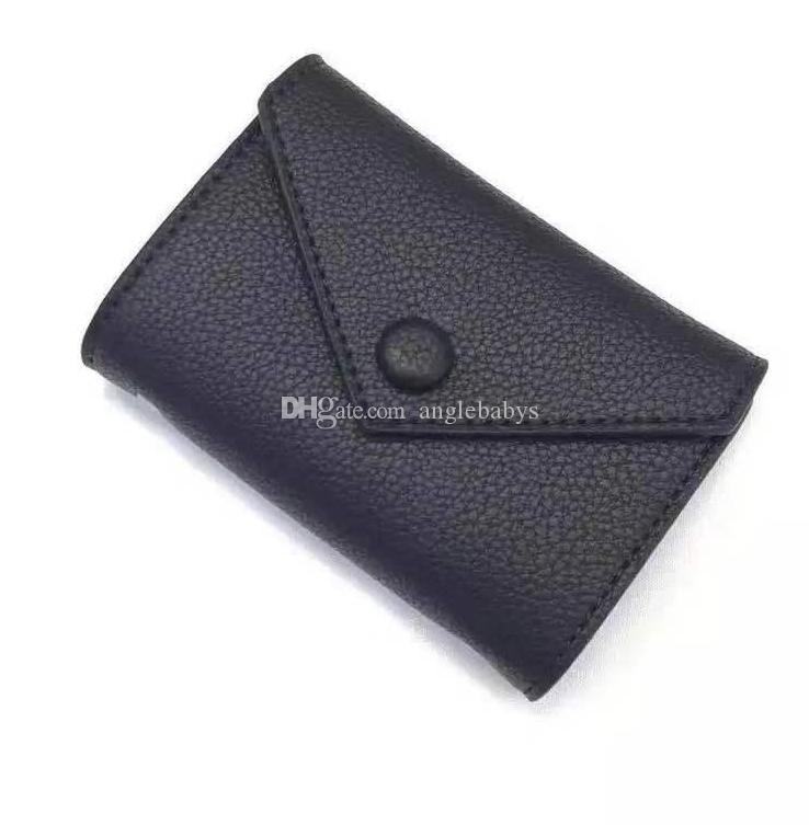 2020 donne portafoglio donne famose di lusso Designer portafogli tela rivestita e reale piccola pelletteria portafogli con chiusura a zip tasca portamonete francese accoppia