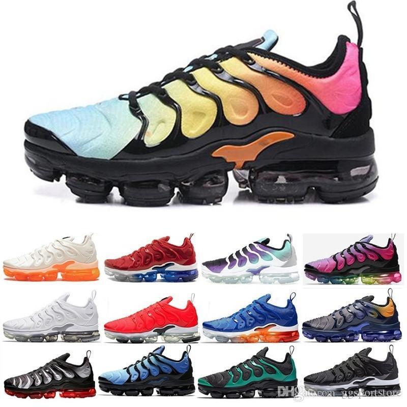 2019 Inoltre Tn Arcobaleno Running Shoes mens Bumblebee Be True Uva Triple Nero scarpe da donna Sorbetto della squadra bianco nero rosso di Sneak V-6596