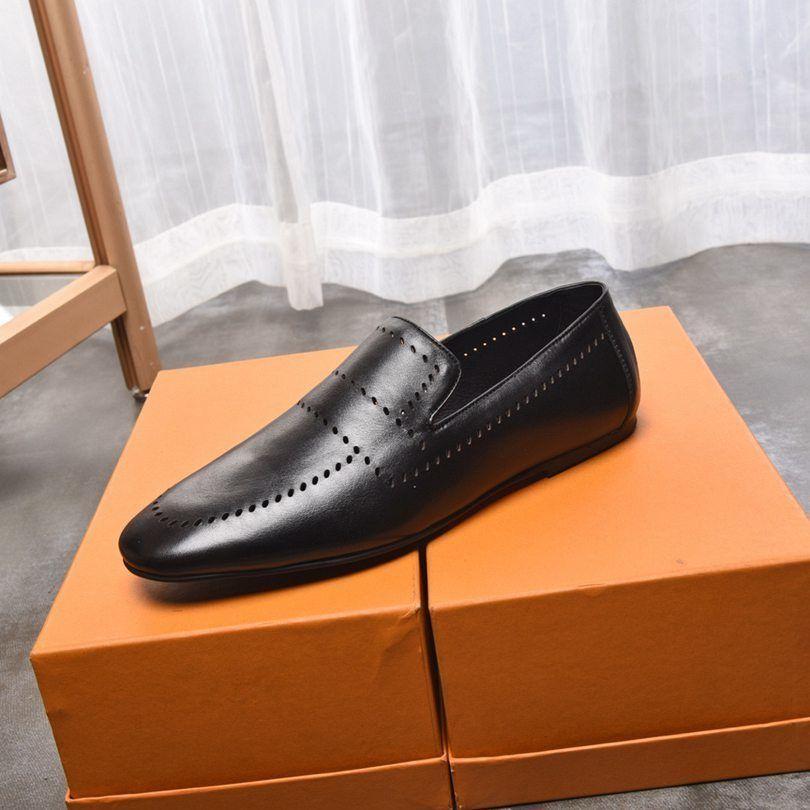 piane traspirante scarpe in pelle morbida degli uomini di modo puro colore casuali coreani