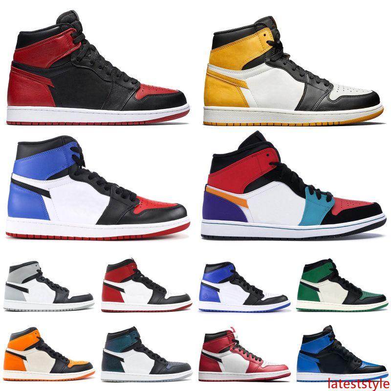 Zapatillas de baloncesto para hombre 1 OG para hombre 2019 juego de punta negra real prohibido unc 1s Top de alta calidad 3 Zapatillas de deporte de diseño Zapatillas de deporte Tamaño 40-46