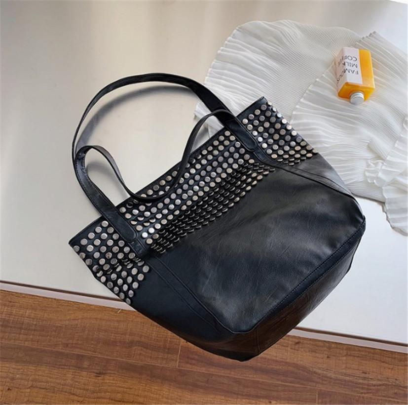 Rivet Moda Grande Capacidade Shopping Bag Lady moda transportar grandes saco em um ombro PH-CFY20041020 /