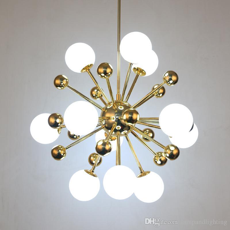 Moderno oro decorativo vidrio colgante iluminación lámpara lámpara de techo lámparas de techo para sala de estar dormitorio sala de comedor decoración luces colgantes