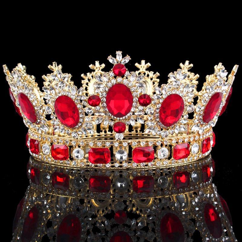 corona lujos Crystal flor tiara tocado Prom Queen Rey para la boda tiaras y joyas de las coronas de pelo Accesorios T200522