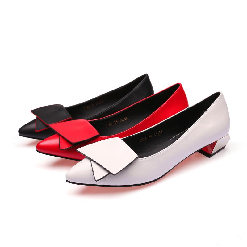 Slip On Shoes Woman Low Heel Women's Office Shoes Block Heel Fashion White Black Red Heels Party Shoes for Lady Heeled Loafers