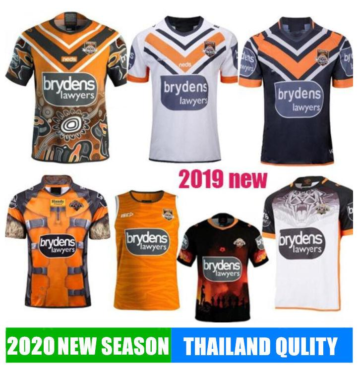 2020 Western Tigers Rugby TWAL MATULINO LAWRENCE MCQUEEN MARSHALL RACCOON MARVEL TAYLOR LIDDLE ALOIAI chemises ouest indigène