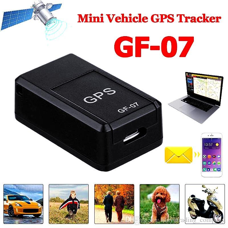 Nuovo GF07 GSM GPRS Mini Car GPS magnetico Registrazione anti-smarrimento Dispositivo di localizzazione in tempo reale Localizzatore Tracker Supporto Mini TF Card