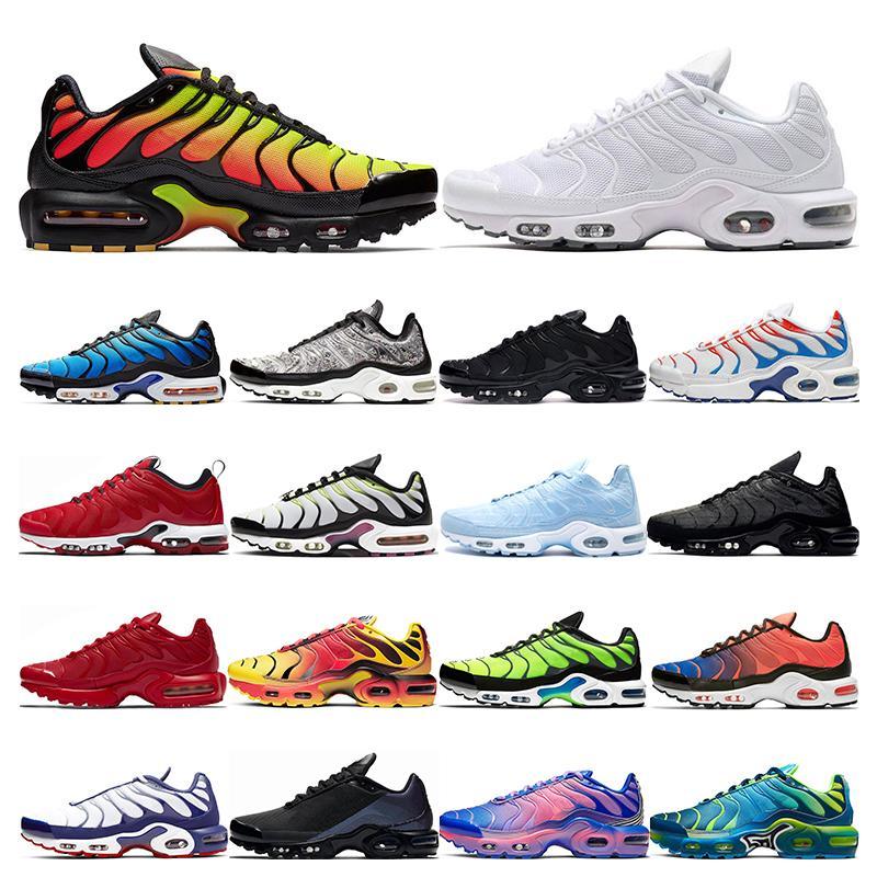 nike air max vapormax tn plus  zapatillas para hombre Blanco negro Naranja Volt Color Flip HYPER CRIMSON zapatillas deportivas zapatillas tamaño 40-46