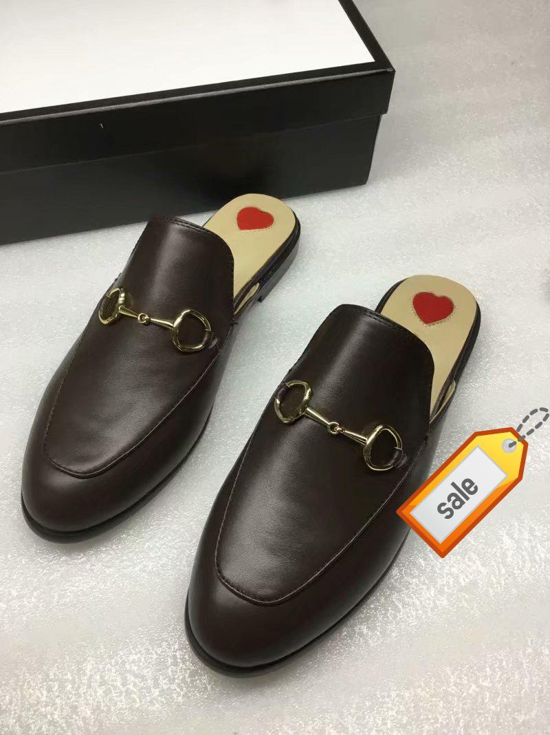 Nuovi Muli Pantofole Da Uomo e da donna Princetown Designer Classic scivoloso fibbia in metallo pantofole da spiaggia Morbide Scarpe pigre