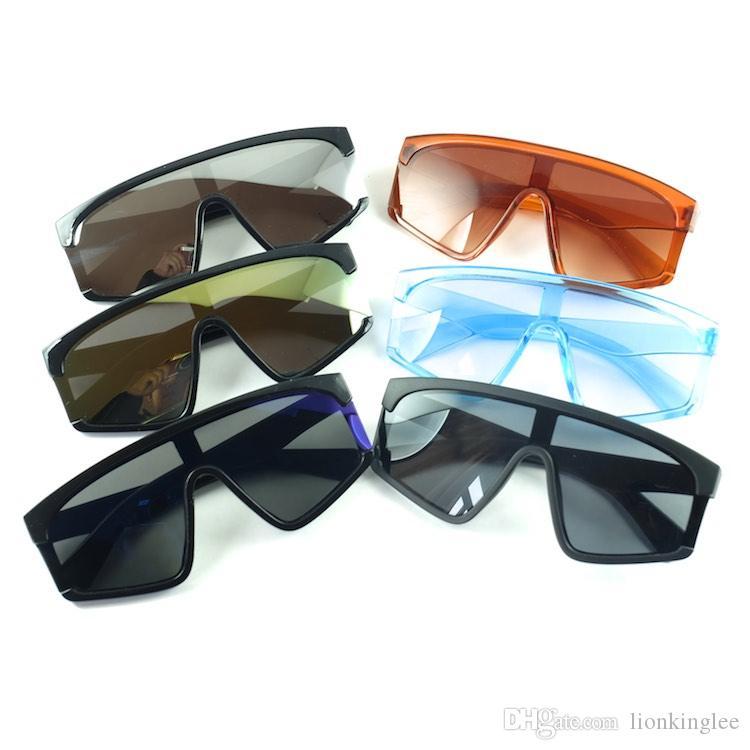 Fashion Retro Plastic Square Kids Sunglasses Oversized Gradient Color Parent-child Glasses 3147