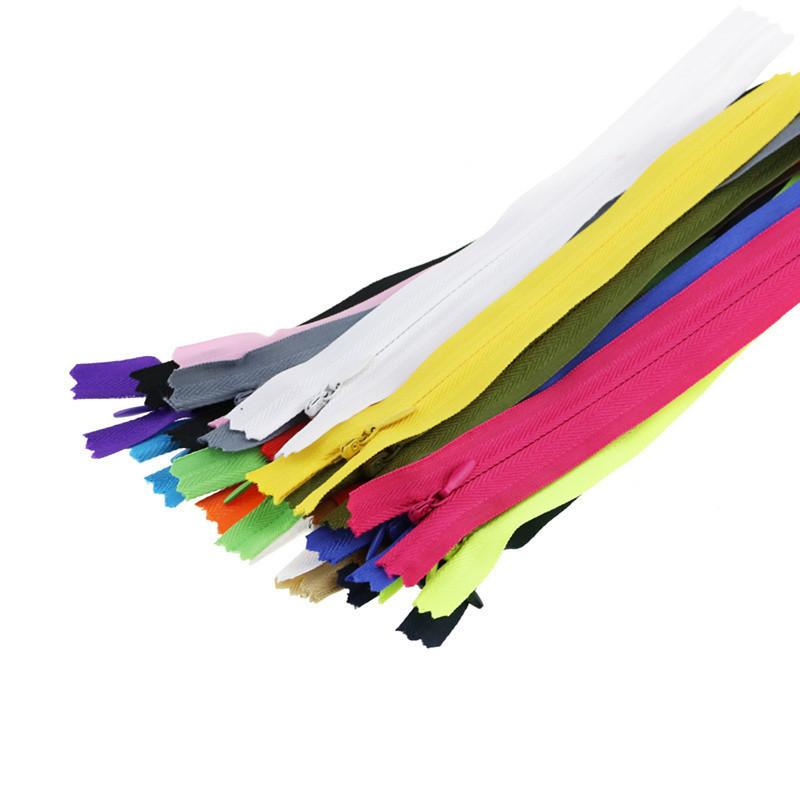 5 adet 3 görünmez fermuarlar 15 cm dikiş open end dantel fermuar gizli çanta kapatma için reçine zip dikiş aksesuarları için görünmez