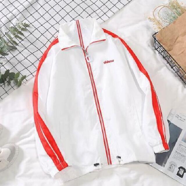 Giacca a vento qualità 08high Uomini E Donne di nuovo modo Bianco e nero Roses Outwear Coat