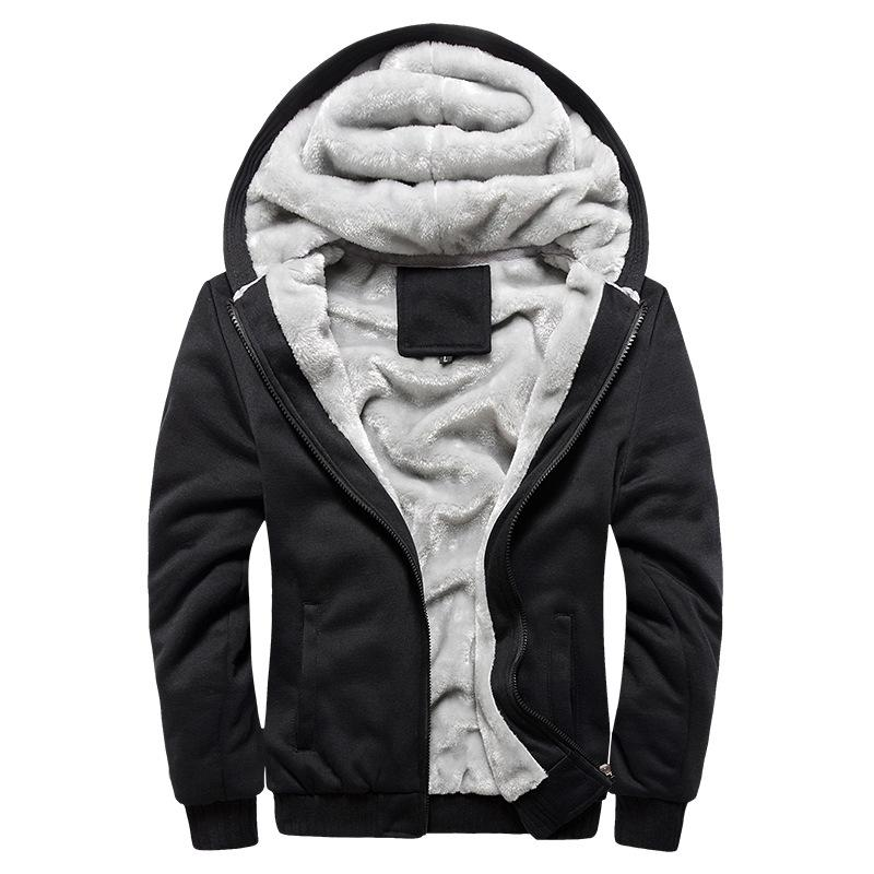 Winter Thick Warm Fleece Zipper Coat for Mens SportWear Tracksuit Male European Hoodies Bomber Jacket Men