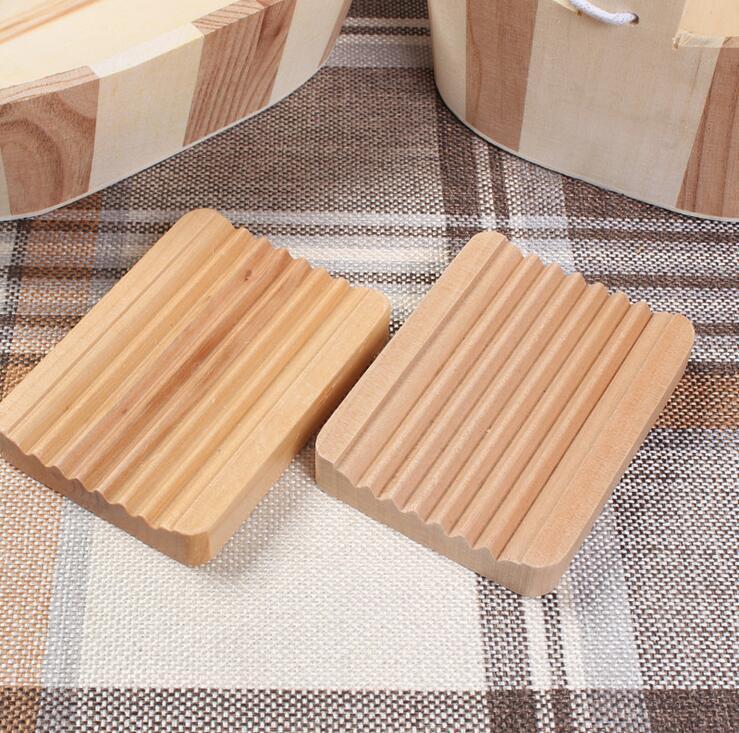 Ahşap Doğal Bambu Sabun Yemekleri Tepsi Tutucu Depolama Sabunluk Plaka Kutusu Konteyner Taşınabilir Banyo Sabun Çanak Saklama Kutusu