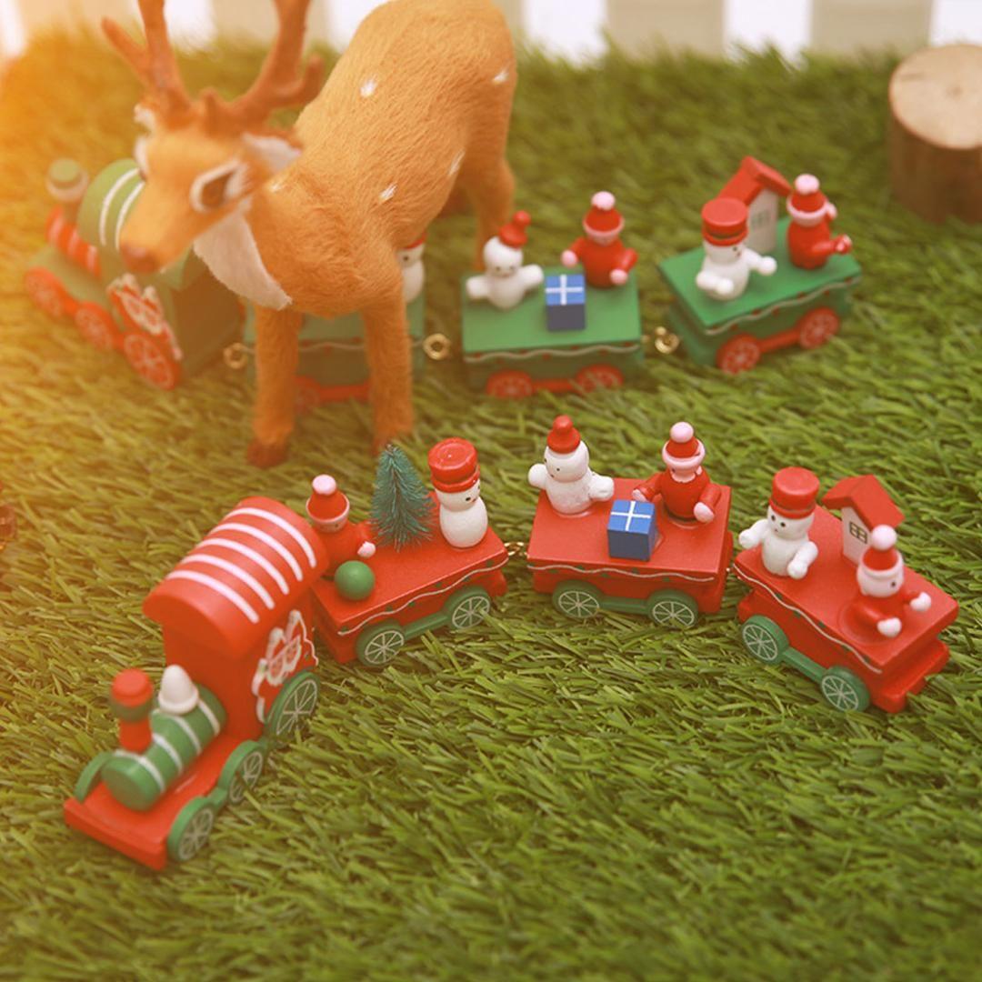 Ev Küçük Tren Popüler Ahşap Mini Tren Dekor Noel Sevgililer Günü Hediye Yılbaşı Malzemeleri İçin Noel Dekorasyon