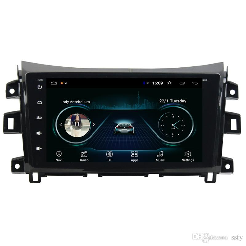 Android car radio with vidio free map camera excellent microphone bluetooth mp3 mp4 music for Nissan navara NP300 terra 2014-2019 9inch