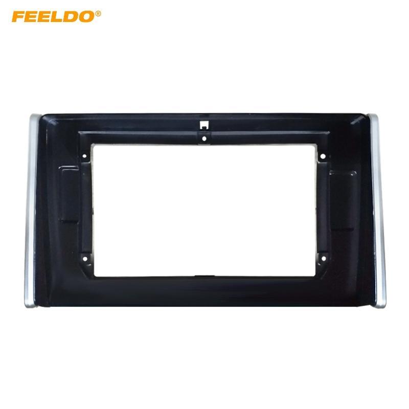 "FEELDO voiture Sterei 2Din fascia Cadre Adaptateur pour Toyota RAV4 10.1"" grand écran Lecteur CD / DVD Fitting Panel Kit cadre # 1553"