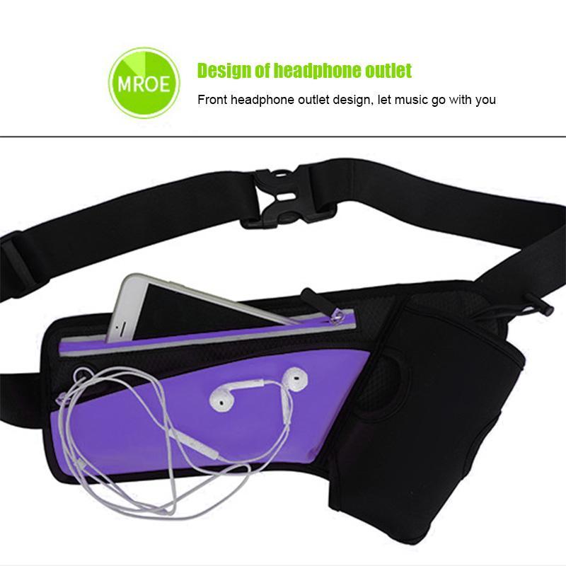 Operando cintura Bolsas del teléfono celular de la correa del paquete hombres de las mujeres del bolso de la caja de excursión que acampa Deportes Agua Botella HB88