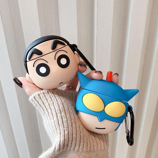 Japonais Cartoon Superman écouteurs pour Apple AirPod Pro étui rigide en silicone écouteurs Accessoires Protector 3D