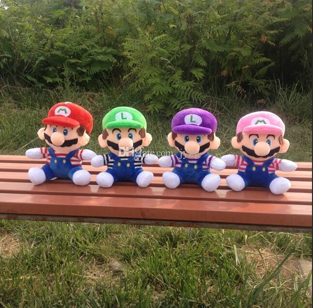 Горячие Продажа 4 Стиль 8 дюймов MARIO Luigi Mario Bros плюшевые куклы мягкие игрушки для ребенка, хорошие подарки