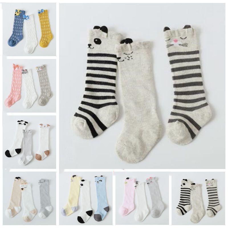 Hot Newborn Toddler Knee High Sock Baby Boy Girl Socks Anti Slip Cute Cat S-M ES
