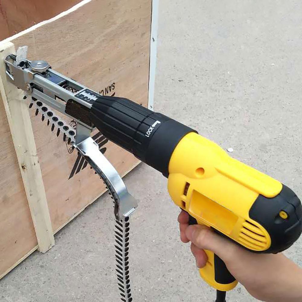 سلسلة مسمار بندقية محول التلقائي المسمار سبايك الحفر الكهربائية النجارة أداة الكهربائية التلقائي سلسلة حزام مسمار المسمار بندقية