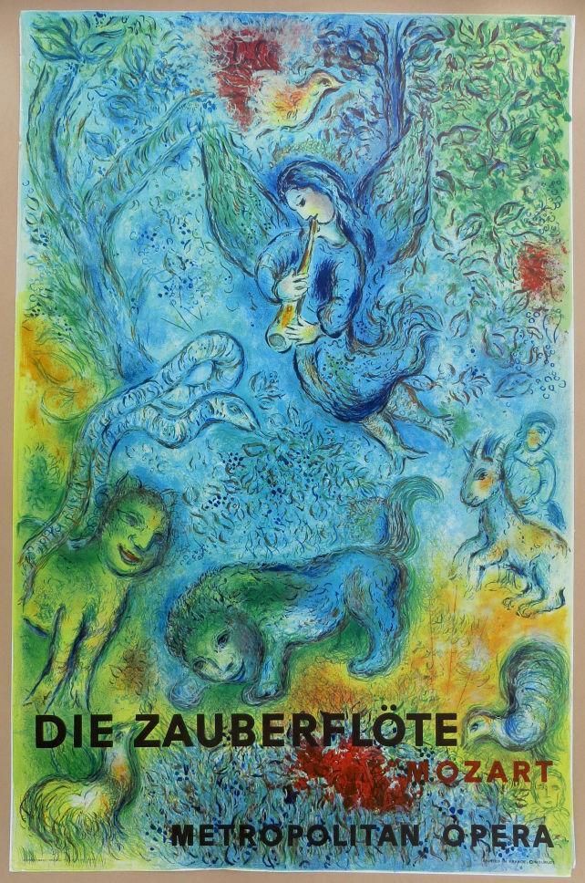 Marc Chagall Art Magic Flute Home Decor pintado à mão HD Pinturas Imprimir óleo (Die Zauberflöte) na lona Wall Art Pictures 200604