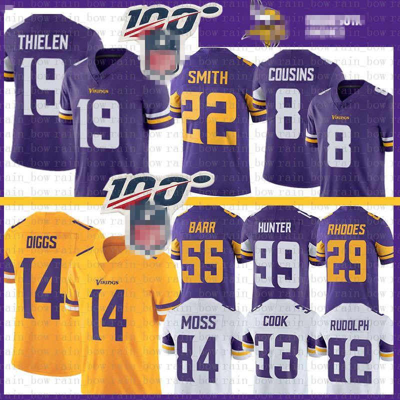 19 Adam Thielen MinnesotaJersey Viking Stefon Diggs Kirk Cousins Barr Randy Moss Harrison Smith Dalvin Cook, Rudolph Rhodes Hunter