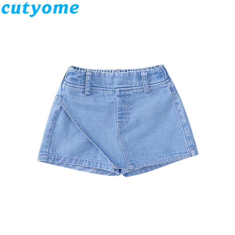 Las muchachas grandes falda jeans cortos verano de los bebés ropa de moda para niños pequeños para niños Denim Pantalones Short Jeans niños adolescentes