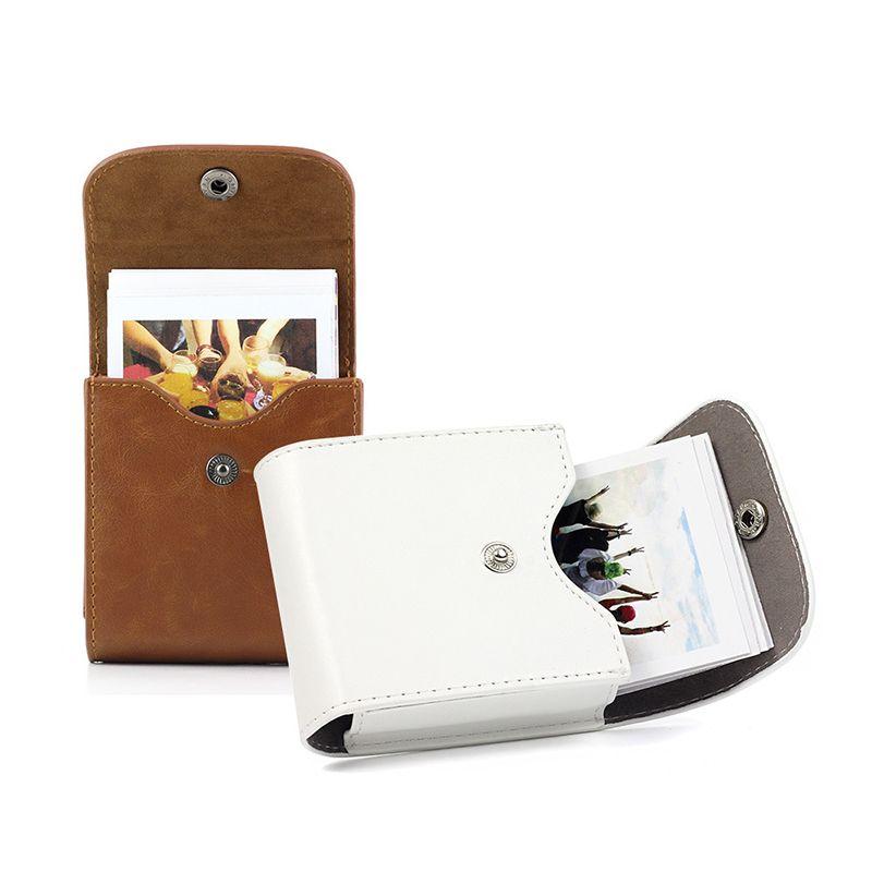 Botão de couro Fujifilm Instax Mini 9 Caso retro Pouch foto do SQ10 SQ6 SQ20 Fujifilm Mini 8 Para Camera Armazenamento