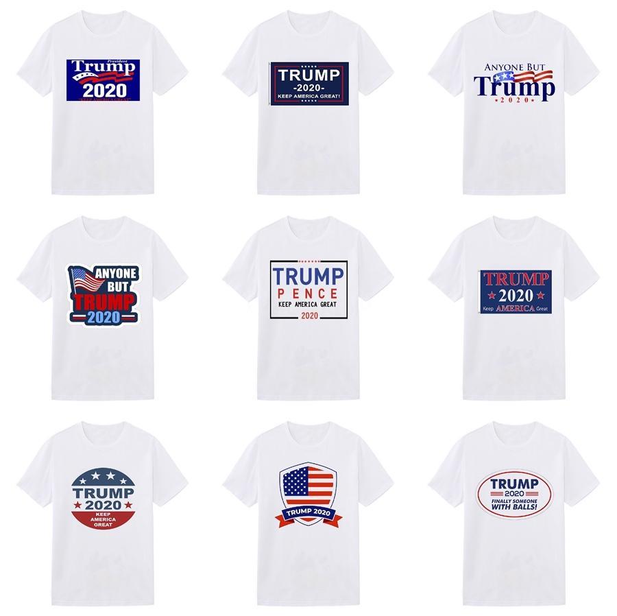 High Quality Fashion Designer Short Trump T-Shirt European Style Men'S Round Neck Trump T-Shirt 100% Cotton Short-Sleeved Men'S Women Clothes