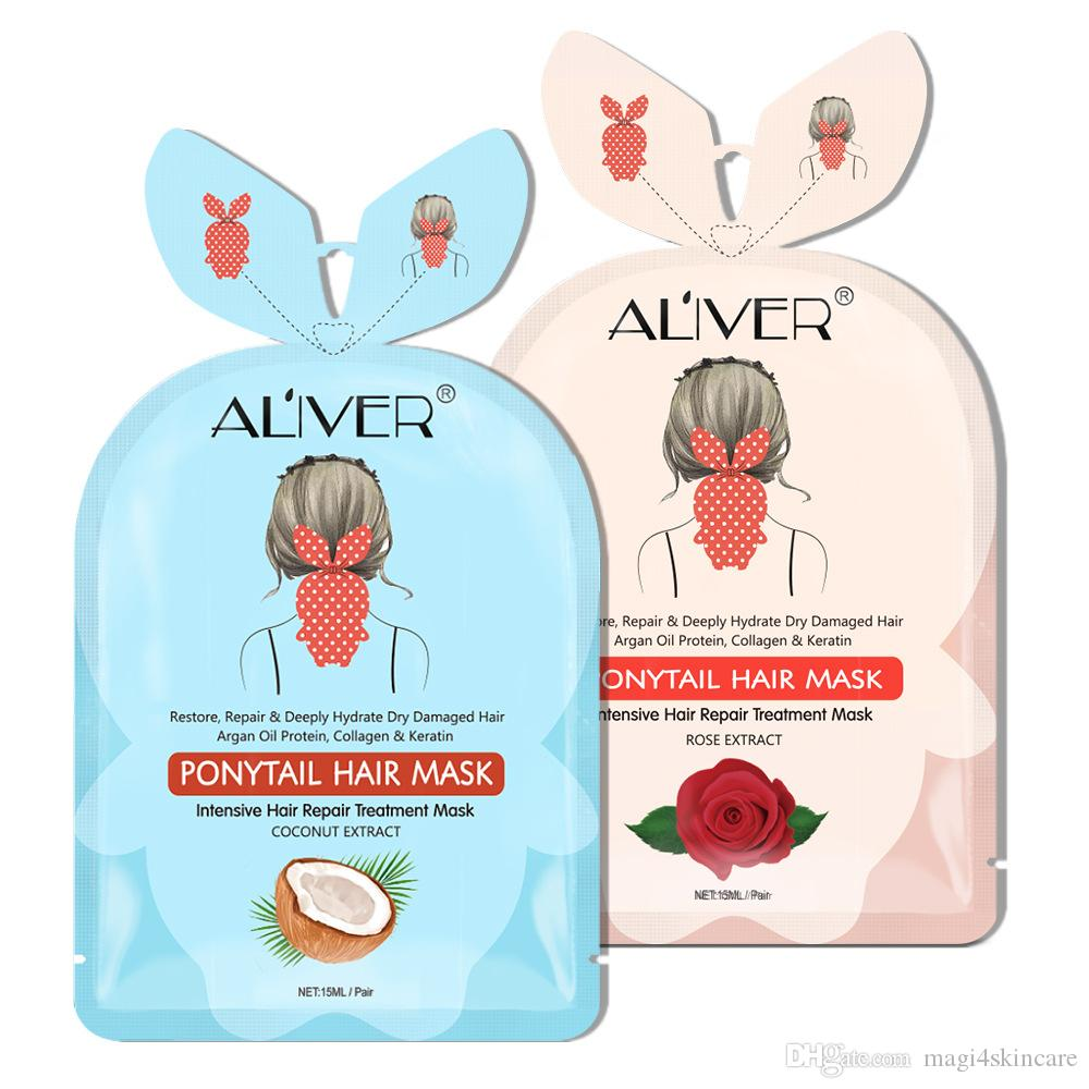 26g Rose Coconut Oil Hair Ponytail Mask Salon Soft Effect Conditioner Women Men For Hair Dry Loss Damage Repaired Shine Enhancing