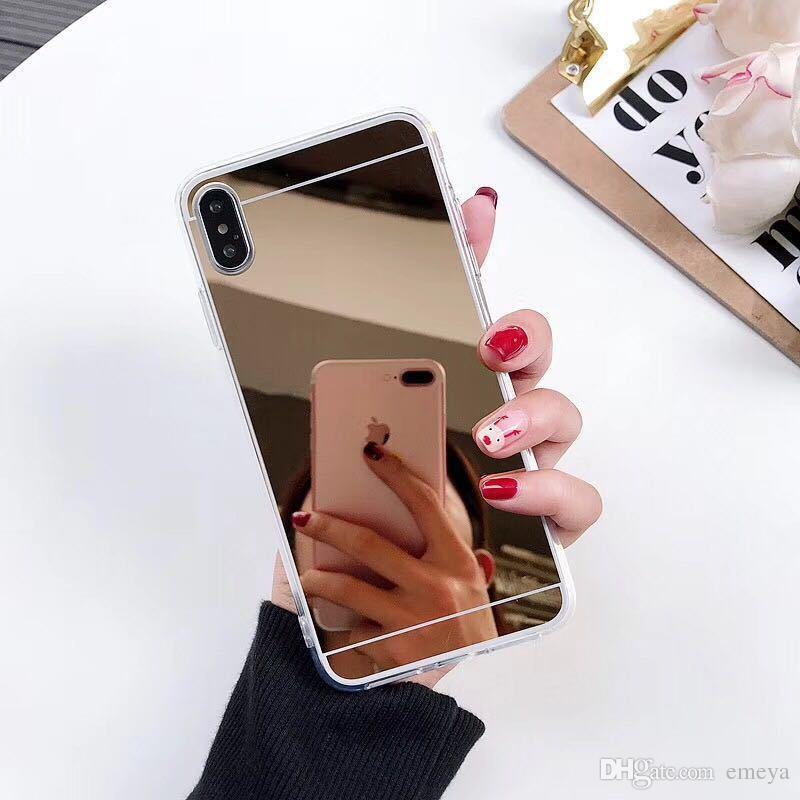 Горячая новая мода Мягкий силиконовый чехол TPU для iPhone 11 pro XS Max XR зеркальный узор чехол для iPhone X 10 XR XS 6 6S 7 8 Plus 5 5S S