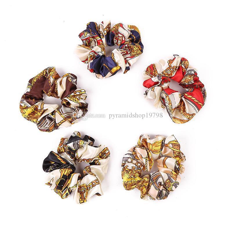 New designer hair accessories for women hair ties floral girls hair scrunchies children HairSticks kids Hairrope