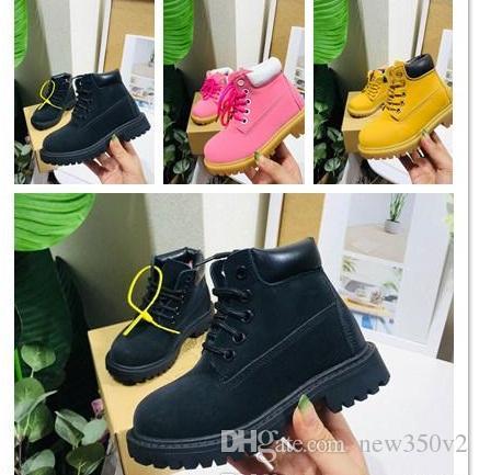 2020 nuovi stivali di design di lusso per gli stivali ragazzi inverno di alta qualità impermeabile Triple militare Bianco Nero Scarpe casual Giallo 26-35