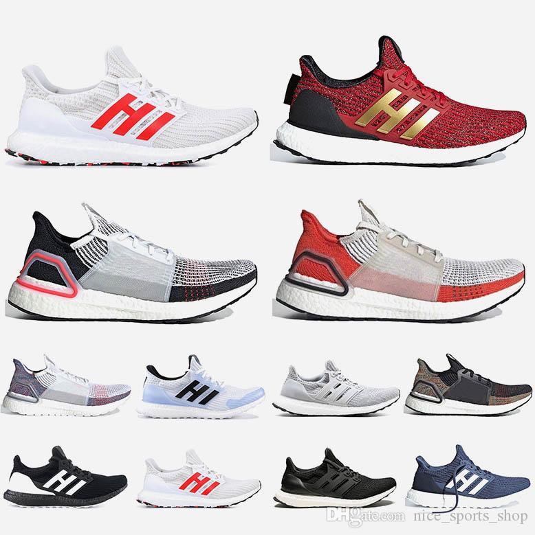 Adidas Ultraboost boost bost UB Chaussures de course Nuage Blanc Noir Refract Primeknit noir pixel hommes formatrices baskets 36-47