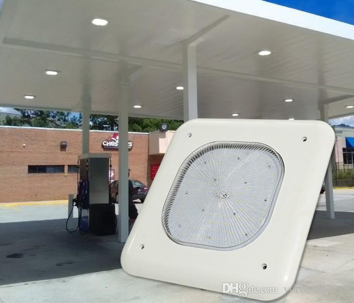 100W 130W 150W LED Canopy Lights Luz de inundación llevada al aire libre Lámpara de gasolinera Iluminación comercial Bahía alta AC 100-277V UL DLC listado LLFA