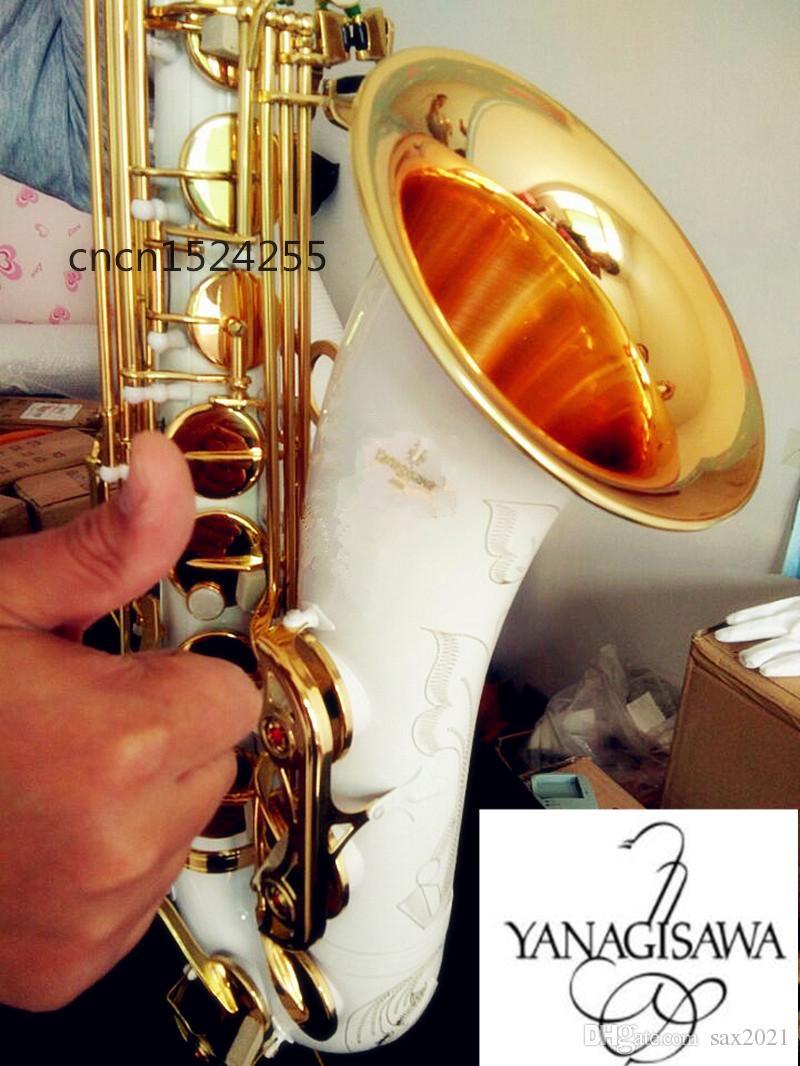Nuovo Yanagisawa T-992 di alta qualità degli strumenti musicali sassofono tenore Bianco tenore Sax accessori completi Bocchino e custodia