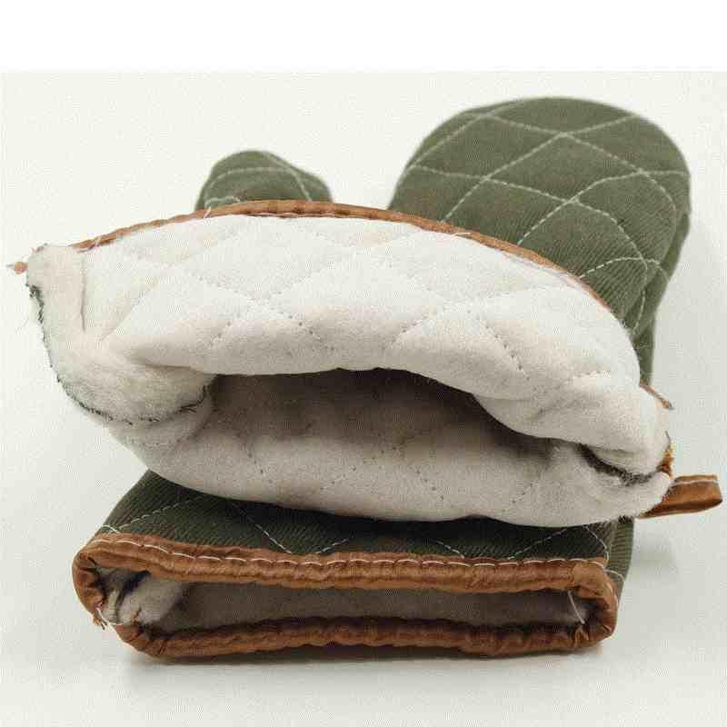 Guantes para hornear guantes de tela de algodón guantes horno maceta espesar 500 grados microondas Super resistente al calor herramientas de cocina 1 piezas