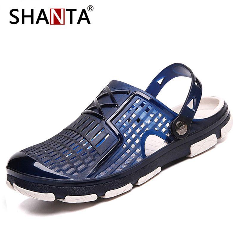 2019 Nuevo Verano Jelly Shoes Men Beach Sandalias Zapatillas Hombre Chanclas Luz Sandalias Al Aire Libre Verano Chanclas Baratas Sandalias Masculinas