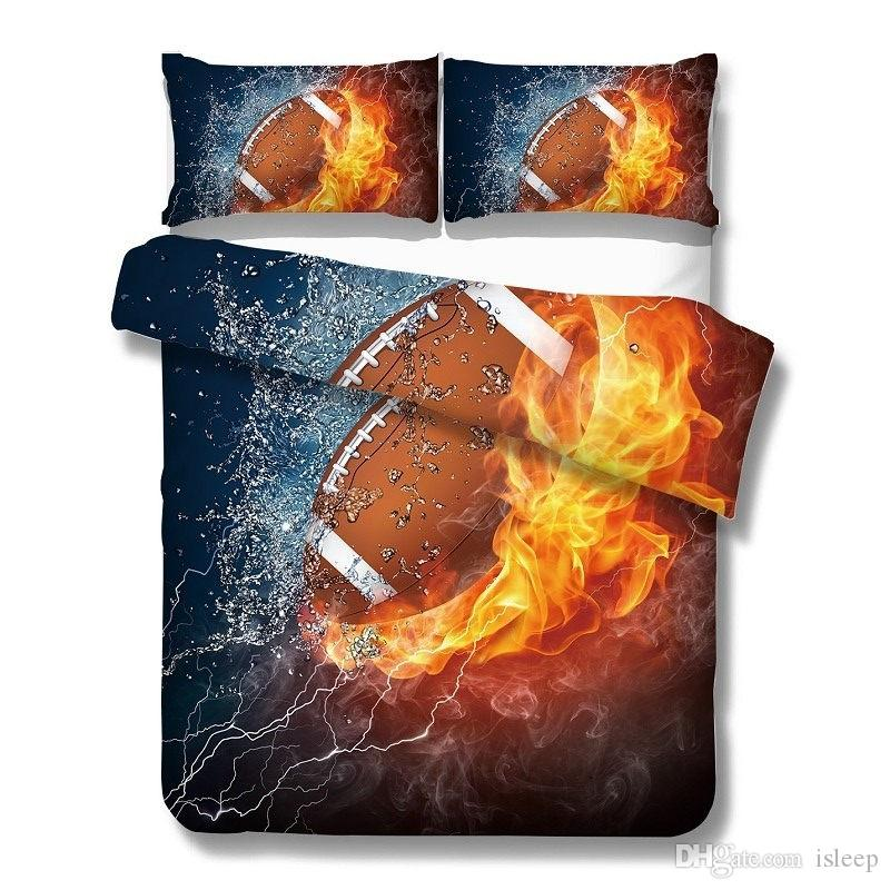 3D Printing Sports Style for Boy Bed Linens 2/3 Pcs Bedding Set with Pillowcase