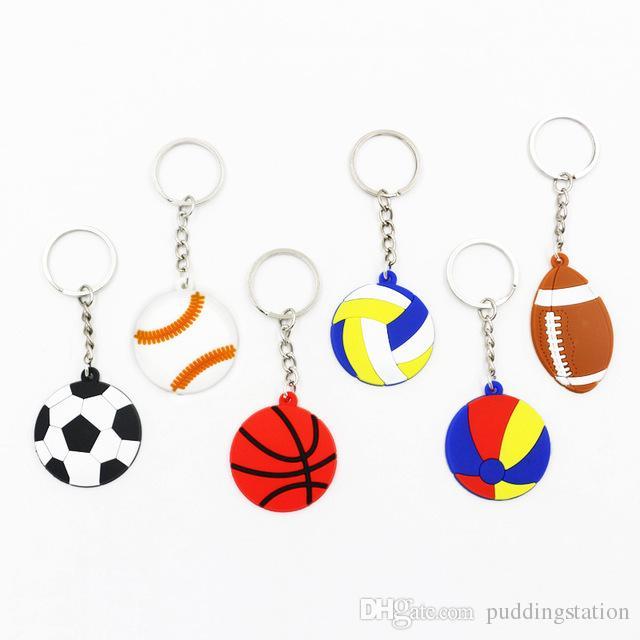 Trendy Diy Cute Fairytale Pvc Ball Keychain Multi Style Football