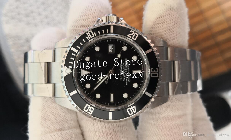 Männer Weinlese-Uhr BP Fabrik Asien Bewegung Uhren Herren-mechanischer Mann 16600 Alloy Lünette Sea Sport Dweller 116600 Perpetual Armbanduhr