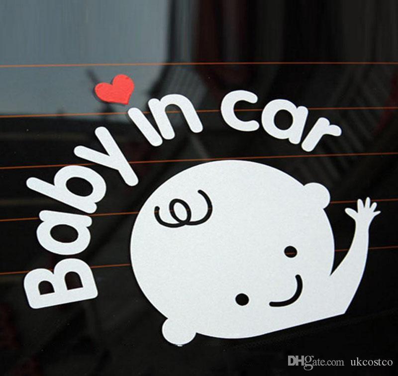자동차 아기 안전 무료 DHL DIY 자동차 스티커 아기 가입 자동차 스티커 액세서리 자동차 안전 로그인 창 스티커 방수 반사 M28Y