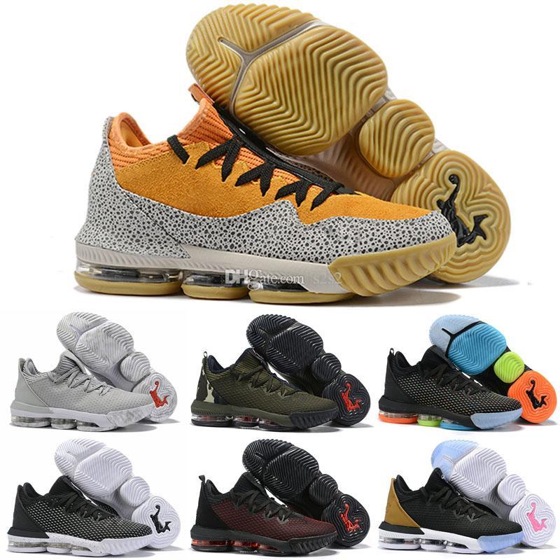 Low Lebron 16 Kids Men Outdoor Shoes James 16s Electric Green Total Orange White Designer LBJ 16 Mens Trainers