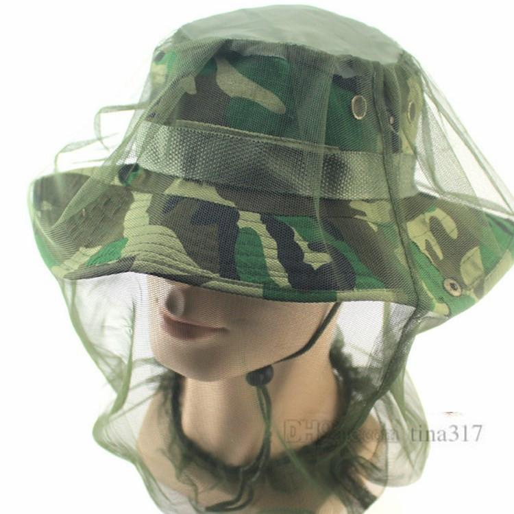 Nuevo Sombrero de sol al aire libre Viaje de campamento al aire libre Repelente de insectos Sombrero de pesca Sombrero de ala ancha al aire libre T2H5001