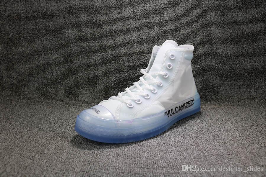 2019 Designer de Luxo Moda off Marca homens mulheres Correndo sapatas de lona Esportes para homens Sapatilhas treinadores tamanho casual sapato branco 5-12