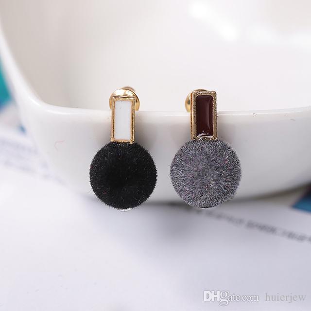 여자를위한 귀걸이 소녀 귀 스 터 드 커프 성명서 귀걸이 스터드 팩 18K 좋은 한국어 귀걸이