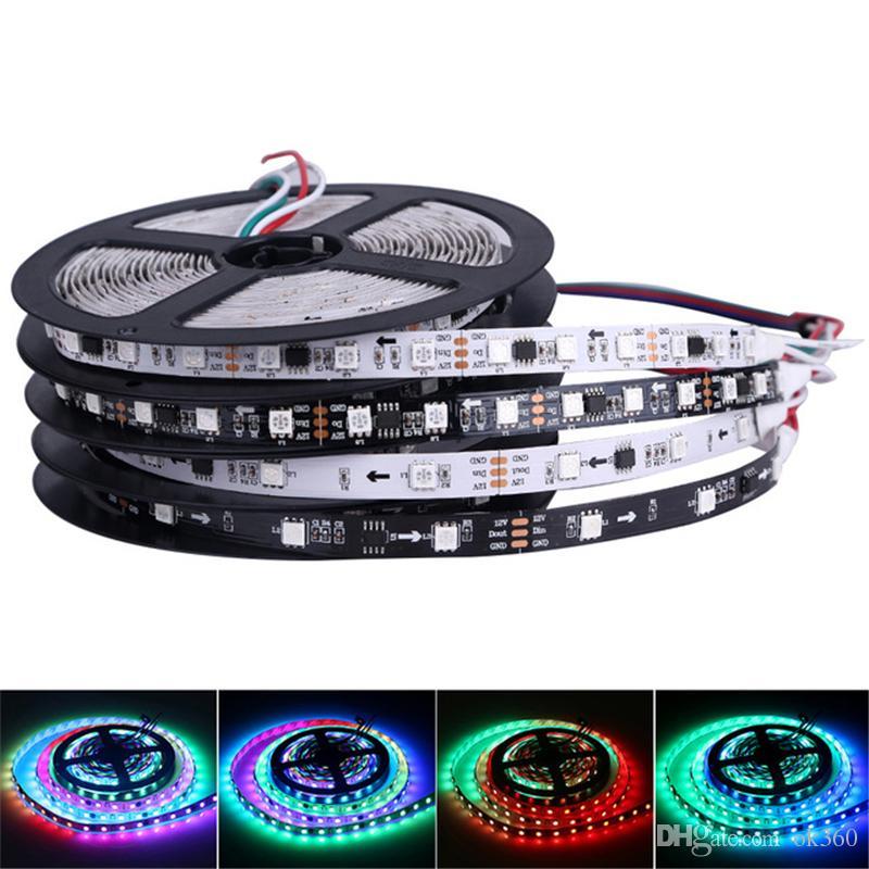 12V WS2811 Fita LED RGB 5050 5M 300LEDs 600LEDs Sonho LED Magia Pixel Faixa Waterproof fita endereçável flexível fita Digital Light